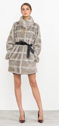 Pelliccia con cintura Nenette autunno inverno 2015
