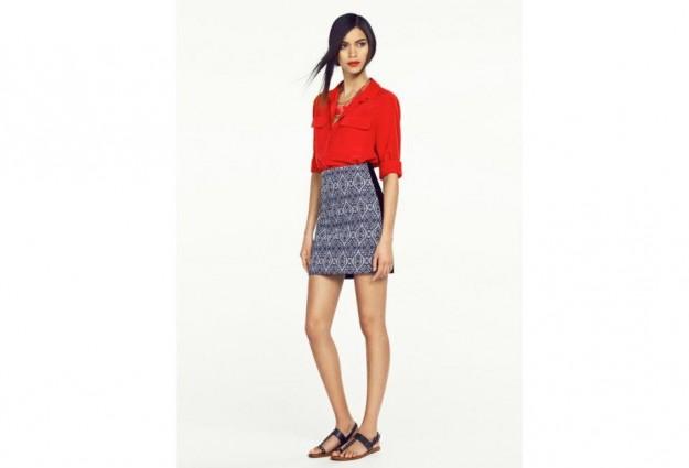 Pencil skirt stampata Mango primavera estate 2013