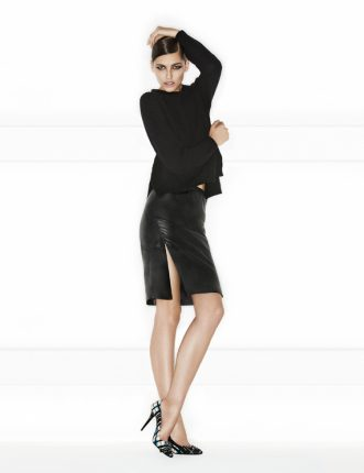 Pinko autunno inverno 2013 2014 gonna pelle