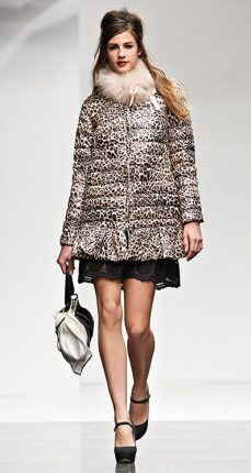 Piumino animalier Twin Set autunno inverno 2015
