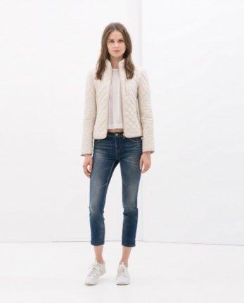 Piumino cipria Zara autunno inverno 2014 2015