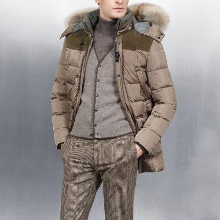 Piumino con capuccio Fay uomo autunno inverno 2015