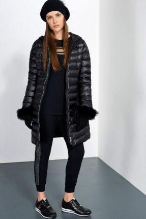 Piumino con inserti in pelliccia Liu Gio inverno 2017