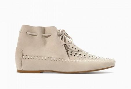 Polacchini in pelle Zara scarpe autunno inverno 2015