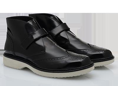 Polacchino in pelle spazzolata scarpe Hogan autunno inverno
