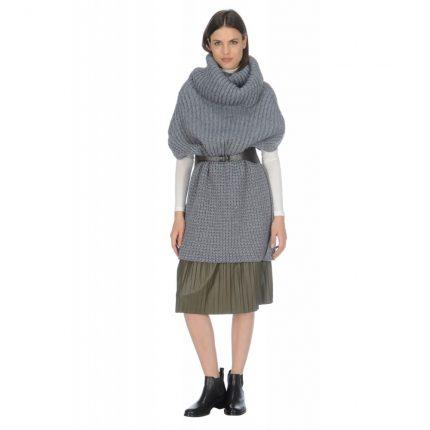 Poncho in misto lana Stefanel autunno inverno 2015