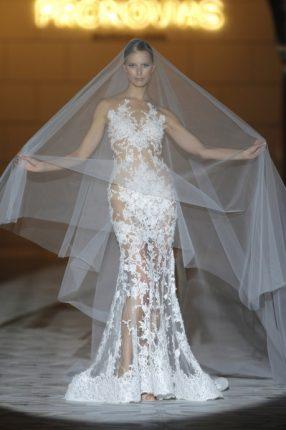 Pronovias 2015 abito sposa con ricami