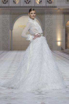 Pronovias 2015 abito sposa maniche lunghe