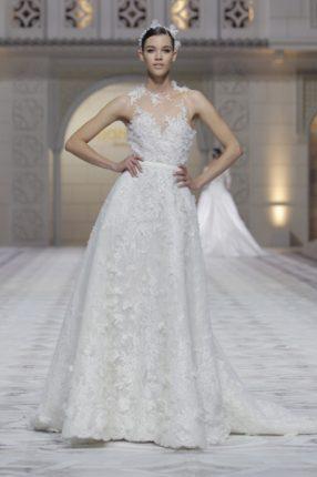 Pronovias 2015 abito sposa tutto ricamato