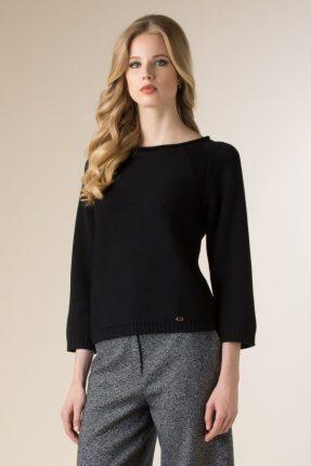 Pullover nero Luisa Spagnoli inverno 2017