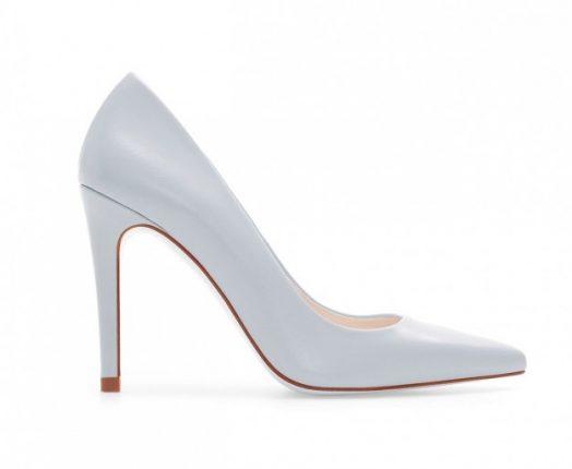 Pumps in pelle bianca Zara autunno inverno 2013 2014