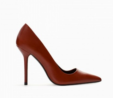 Pumps marroni Zara scarpe autunno inverno 2015