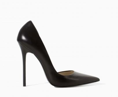 Pumps nere a punta Zara scarpe autunno inverno 2015