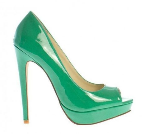 Pumps verdi peep toe primavera estate 2013