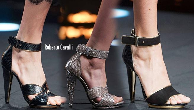 Roberto cavalli scarpe catalogo autunno inverno 2014 2015