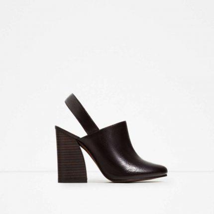 Sabot slingback Zara autunno inverno 2017