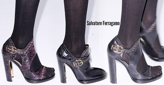 Salvatore Ferragamo scarpe catalogo autunno inverno 2014 2015