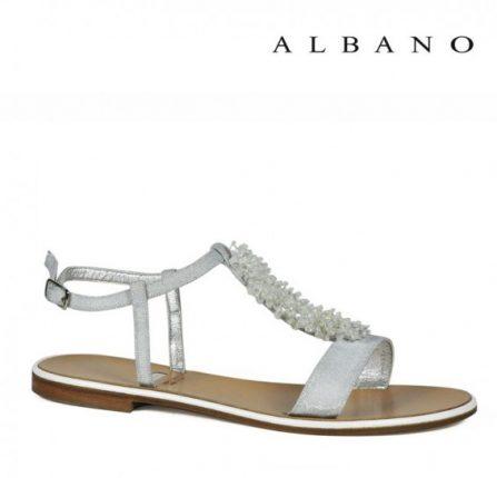 Sandaletto gioiello bianco Albano primavera estate
