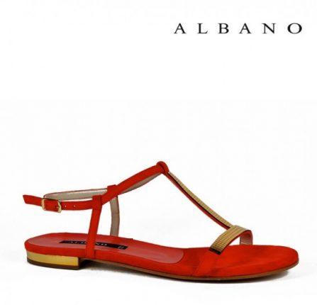 Sandaletto rosso a listini Albano primavera estate
