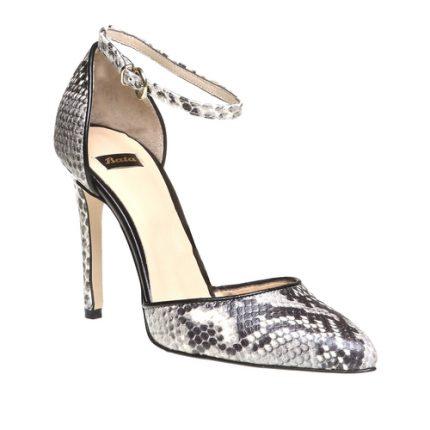 Sandali a spillo in rettile con cinturino Bata scarpe autunno inverno 2015