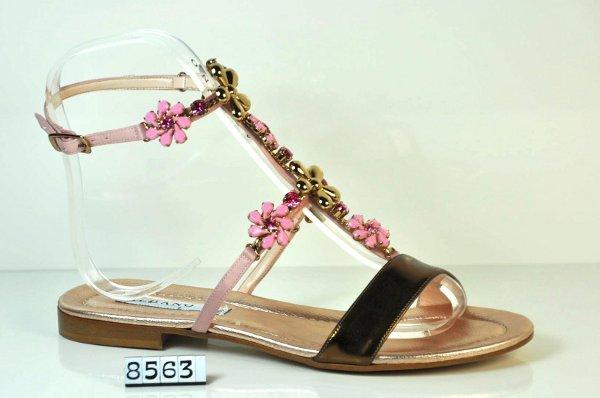 Sandali bassi con fiori Albano primavera estate 2013