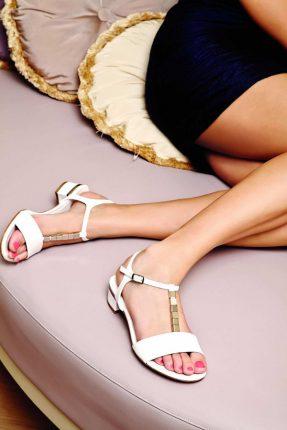 Sandali bianchi Albano primavera estate 2013