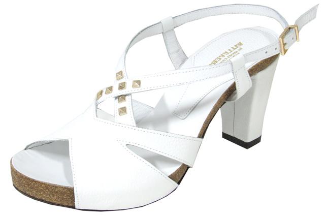 Sandali bianchi con borchie Valleverde primavera estate