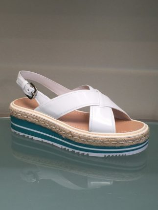 Sandali bianchi Prada