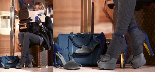 Sandali bicolor Louis Vuitton