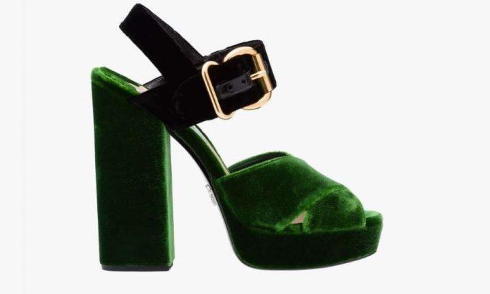 Sandali bicolor Prada