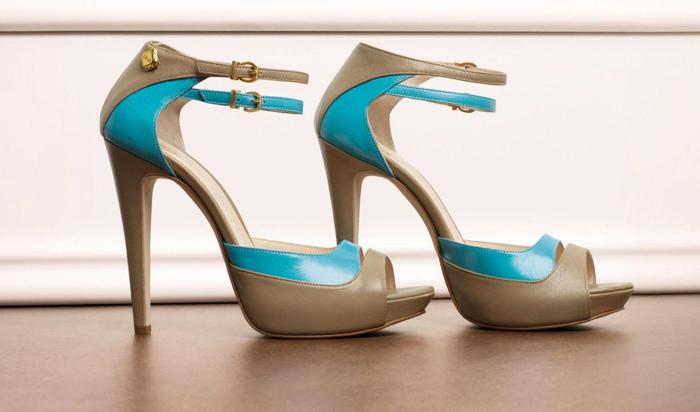 Sandali bicolore con cinturini Liu Jo primavera estate 2013
