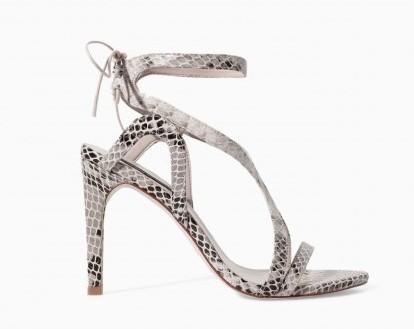 Sandali con stampa rettile Zara scarpe autunno inverno 2015