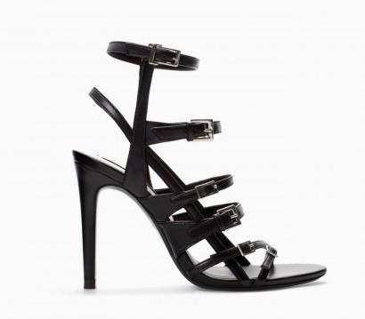Sandali neri Zara scarpe autunno inverno 2015