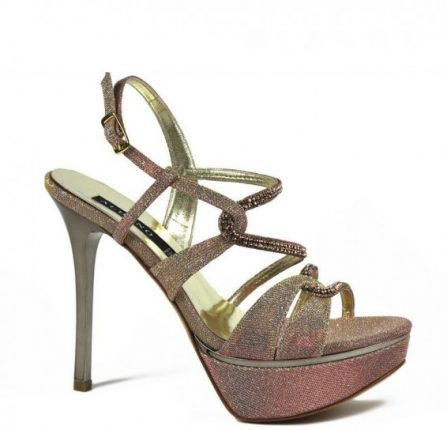 Sandali rosa antico iridescenti Albano primavera estate