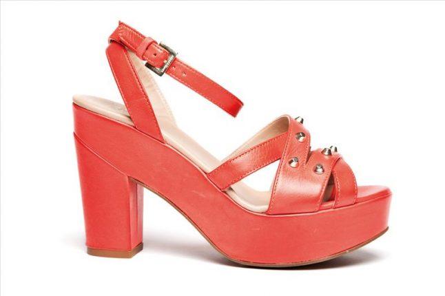 Sandali tacco alto rosso di Janet e Janet