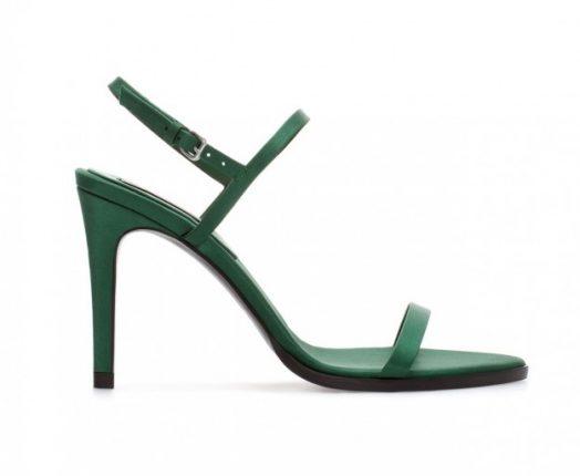 Sandali verdi con tacco Zara autunno inverno 2013 2014