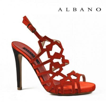 Sandalo con tacco alto rosso Albano primavera estate