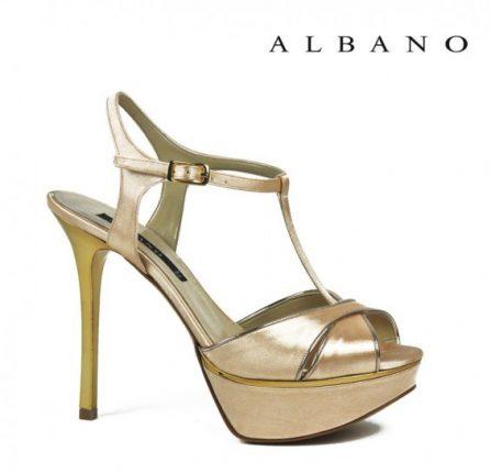 Sandalo dorato Albano primavera estate con cinturino