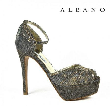 Sandalo glitterato con cinturino alla caviglia Albano primavera estate
