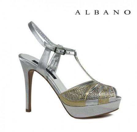 Sandalo in oro e argento t-bar Albano primavera estate