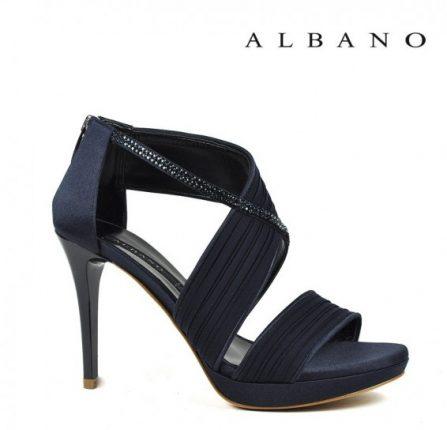 Sandalo in raso blu notte Albano primavera estate