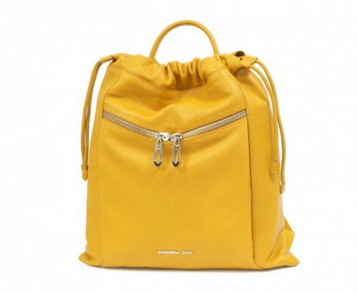 Secchiello gialla con zip borsa Mandarina Duck