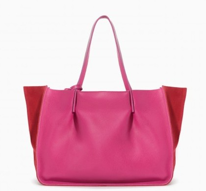 Shopper bicolor Zara borse autunno inverno 2015