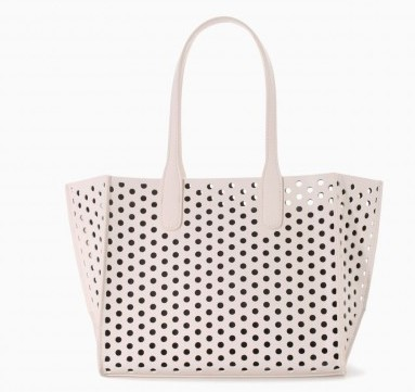Shopper laser cut rosa Zara borse autunno inverno 2015