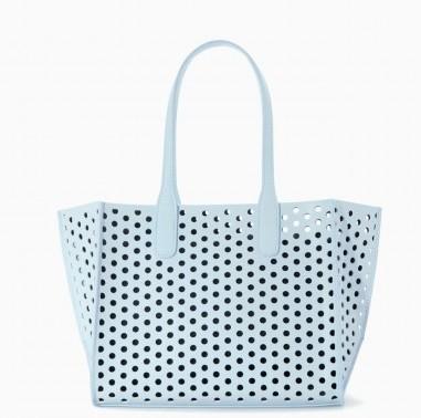 Shopper laser cut turchese Zara borse autunno inverno 2015
