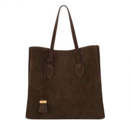 Shopper marrone in camoscio Coccinelle autunno inverno 2017