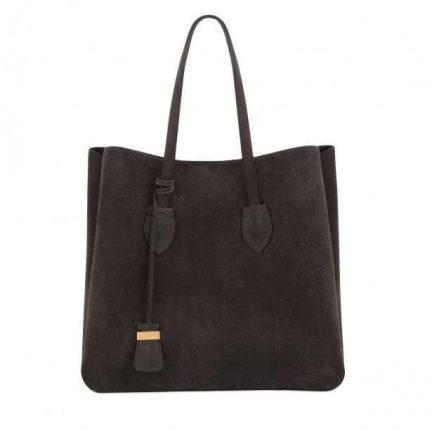 Shopper nera in camoscio Coccinelle autunno inverno 2017