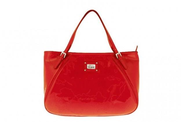 Shopper rossa in vernice Alviero Martini 1a classe