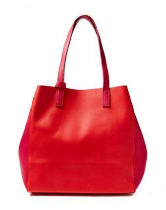Shopping bag in rosso Benetton borse autunno inverno 2017
