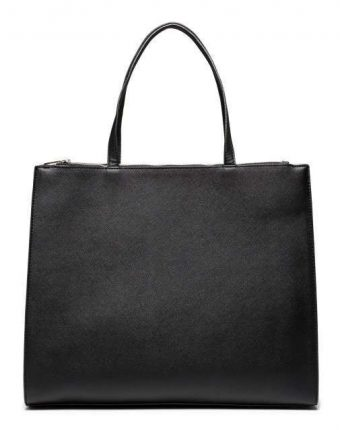 Shopping bag nera Benetton borse autunno inverno 2017